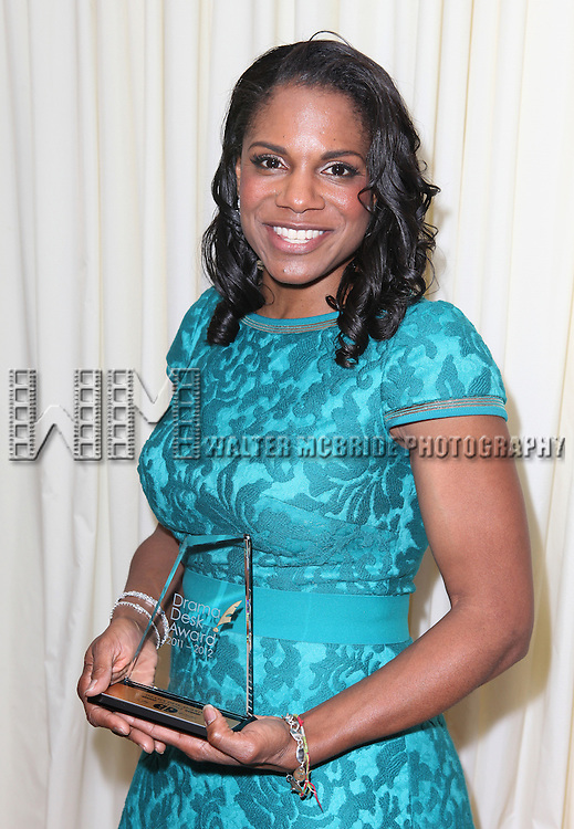 Audra McDonald.in the winners press room at the 57th Annual Drama Desk Awards held at the The Town Hall in New York City, NY on June 3, 2012.