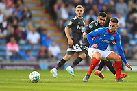 Ben Close of Portsmouth and Agustín Medina of Birmingham City keep their eyes on the ball during Portsmouth vs Birmingham City, Caraboa Cup Football at Fratton Park on 6th August 2019