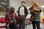 WBGO's Dorthaan Kirk talks about her life with jazz great Rahsaan Roland Kirk during at presentation at the Rutgers University Jazz Institute in Newark.