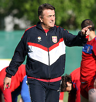 25 05 2010  2010 FIFA world Cup preperations. Serbia national team in training, Leogang Austria.Picture shows Team boss Radomir Antic Srb