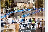 Michael Garrison's (USA) reflection underway during the Men Junior Individual Time Trial<br /> <br /> 2019 Road World Championships Yorkshire (GBR)<br /> <br /> ©kramon