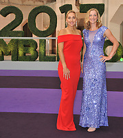 Elena Vesnina and Ekaterina Makarova, 2017 Women's Doubles Champions at the Wimbledon Champions Dinner, The Guildhall, Gresham Street, London, England, UK, on Sunday 16 July 2017.<br /> CAP/CAN<br /> &copy;CAN/Capital Pictures /MediaPunch ***NORTH AND SOUTH AMERICAS ONLY***