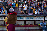 Home fans looking on during half-time as Bradford City played Carlisle United in a Skybet League 2 fixture at Valley Parade. The home team were looking to bounce back after being relegated during a disastrous 2018-19 season on and off the pitch. Bradford won the match 3-1, watched by a crowd of 14, 217.