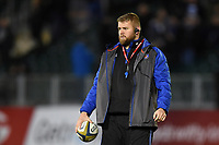 Mark Lilley of Bath Rugby looks on during the pre-match warm-up. Anglo-Welsh Cup match, between Bath Rugby and Leicester Tigers on November 10, 2017 at the Recreation Ground in Bath, England. Photo by: Patrick Khachfe / Onside Images