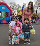 The Barrera family during the Community Easter Egg Dash at Idlewild Park in Reno, Nevada on Saturday, March 31, 2018.