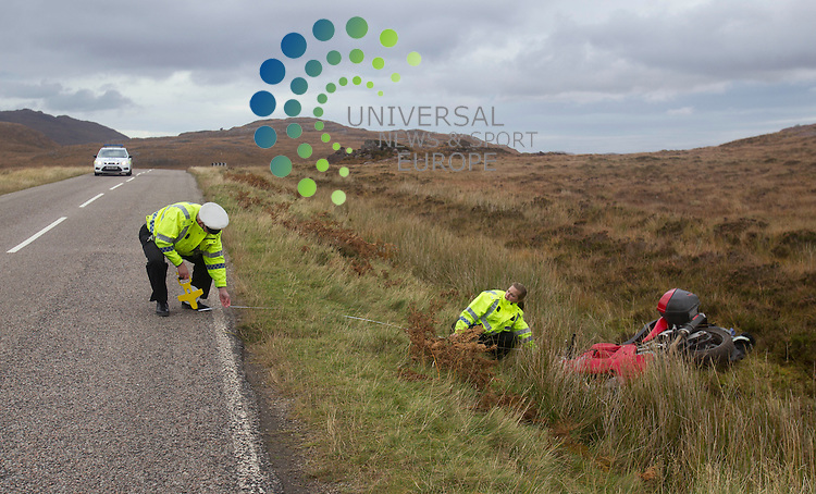 Transport Scotland Statisticians today released the final 2013 figures for road casualties reported to the police. As well as the 10 per cent fall in overall casualties, to 11,498 in 2013, the figures also show that the number of fatalities fell by three per cent to 172 and the number of serious injuries decreased by 16 per cent to 1,672. The number of people slightly injured decreased by 9 per cent over the year, to 9,654 in 2013.<br /> Casualty numbers for all modes of transport fell, including a 12 per cent fall in pedestrian casualties, an 11 per cent fall for motorcycle casualties and a 3 per cent fall in pedal cycle casualties. There were increases in fatalities amongst car users, motorcyclists and cyclists but fatalities for all other modes of transport fell between 2012 and 2013.<br /> Picture: Universal News And Sport (Europe) 21 October 2014
