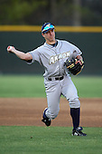March 13, 2010:  Third Baseman Samuel Trecaso of the Akron Zips vs. the Yale Bulldogs in a game at Henley Field in Lakeland, FL.  Photo By Mike Janes/Four Seam Images