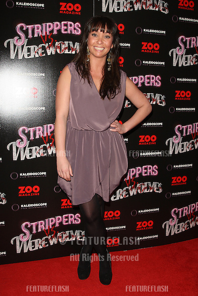 Lucinda Rhodes arriving at the 'Strippers vs Werewolves' premiere held at the Apollo cinema - Arrivals.London. 24/04/2012 Picture by: Henry Harris / Featureflash