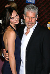 "LOS ANGELES, CA. - October 18: Actress Anna Walton and actor Ron Perlman arrives at the Spike TV's ""Scream 2008"" Awards at The Greek Theater on October 18, 2008 in Los Angeles, California."