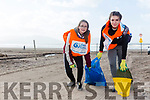 Scout groups are planting maram grass and cleaning beach  at Inch Beach. Pictured Emilia Wojtaszek and Carleena Philip, Killarney scouts