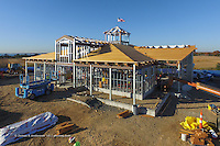 Meigs Point Nature Center at Hammonasset Beach State Park  <br /> Connecticut State Project No: BI-T-601<br /> Architect: Northeast Collaborative Architects  Contractor: Secondino & Son<br /> James R Anderson Photography New Haven CT photog.com<br /> Date of Photograph: 03 November 2015<br /> Camera View: 30 - Aerial by Quadcopter