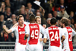Nederland, Amsterdam, 24 oktober  2012.Champions League.Seizoen 2012-2013.Ajax-Manchester City 3-1.Niklas Moisander van Ajax juicht na het scoren van de 2-1.