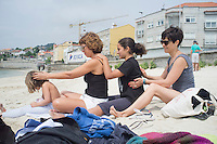 Mara, Dietmar, Lucia, Yesenia, Jessica, Kidon, Natasha, Luna, Arlo, Lucas, Felix, Annuska, Ana, and Violeta in Moaña, Galicia, Spain