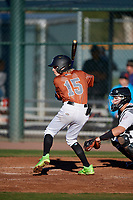Chase Valentine during the Under Armour All-America Pre-Season Tournament, powered by Baseball Factory, on January 19, 2019 at Sloan Park in Mesa, Arizona.  Chase Valentine is a shortstop / right handed pitcher from Phoenix, Arizona who attends Sanda Day O'Connor High School.  (Mike Janes/Four Seam Images)