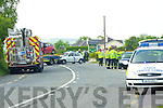 The scene at the crash out the Tralee road on Saturday.   Copyright Kerry's Eye 2008