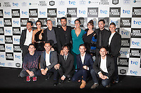 Actors HUGO SILVA, MEGAN MONTANER, ELIO GONZALEZ, RICARD SALES, JUAN CODINA, ENRIQUE ARCE, MIRIAM BENOIT, LUCIA ALVAREZ, VICTOR PALMERO and DAVID MARQUES pose at `Dioses y perros´ film premiere photocall in Madrid, Spain. October 07, 2014. (ALTERPHOTOS/Victor Blanco) /nortephoto.com