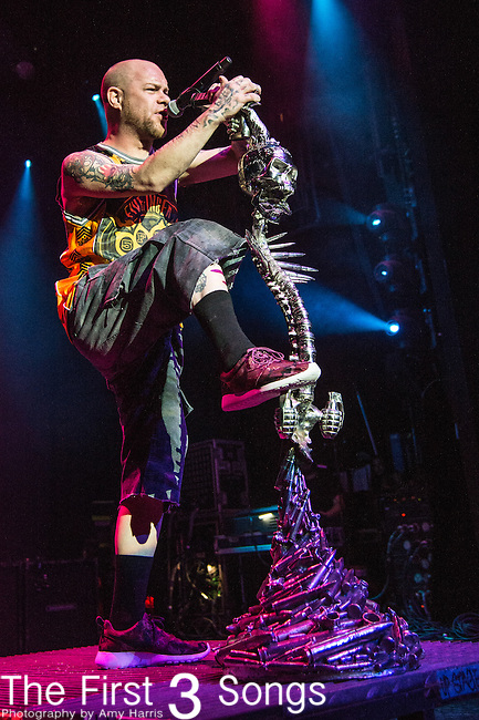 Ivan L. Moody of Five Finger Death Punch performs during the 2016 ShipRocked Cruise. ShipRocked set sail January 18-22, 2016, from Miami to Costa Maya, Mexico on the Norwegian Pearl.