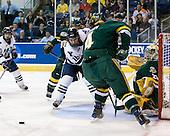 Josh Burrows (Vermont - 22), Sean Backman (Yale - 16), Patrick Cullity (Vermont - 4), Rob Madore (Vermont - 29) - The University of Vermont Catamounts defeated the Yale University Bulldogs 4-1 in their NCAA East Regional Semi-Final match on Friday, March 27, 2009, at the Bridgeport Arena at Harbor Yard in Bridgeport, Connecticut.