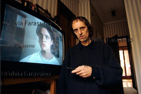 Roma, 1995, Dario Argento nella sua casa, Rome, 1995, Dario Argento in his house
