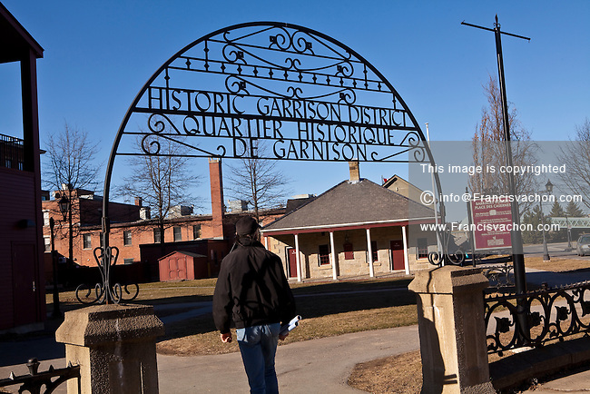 The Historic Garrison District is pictured in Fredericton, New Brunswick Tuesday April 3, 2012. Located where British troops were garrisoned from 1784 until 1869, Frederictons Historic Garrison District is a National Historic Site and a protected Provincial Historic Site.