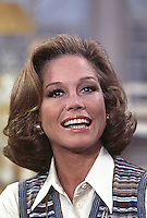 Mary Tyler Moore, On Set of Mary Tyler Moore Show, Season 4, 1974, Studio 2, CBS Studios, Los Angeles. Photo by John G. Zimmerman.