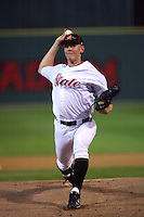 February 28 2008: Stephen Strasburg of the San Diego State University Aztecs pitches at Tony Gwynn Stadium at UCSD in San Diego,CA.  Photo by Larry Goren/Four Seam Images
