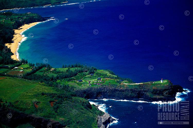 Aerial of Kilauea Point National Wildlife Refuge, North Shore, Kauai