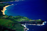 Aerial of Kilauea Point National Wildlife Refuge, North Shore, Kauai