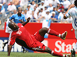 16 June 2007: Canada's Ali Gerba scores a goal in the 33rd minute. The Canada Men's National team defeated the Guatemala Men's National Team 3-0 at Gillette Stadium in Foxboro, Massachusetts in a 2007 CONCACAF Gold Cup quarterfinal.