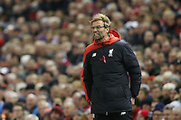 Liverpool Manager Jurgen Klopp yells out in annoyance during the Barclays Premier League Match between Liverpool and Swansea City played at Anfield, Liverpool on 29th November 2015