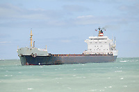 Great Lakes ship Algonorth heading south on Lake Huron to the St. Clair River.