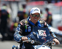 Jul 30, 2016; Sonoma, CA, USA; NHRA funny car driver John Force during qualifying for the Sonoma Nationals at Sonoma Raceway. Mandatory Credit: Mark J. Rebilas-USA TODAY Sports