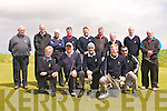 The Killorglin team at the Jimmy Bruen Cup in Ceann Sibéal Golf Course, Baile an Fheirtéaraigh, on Saturday afternoon. Front from left: Michael Ladden, Ger Joy, Joe Kennedy, John McCarthy, Eugene Kennedy. Back from left: Jim O'Donovan (manager), Brendan Campbell (President), Robbie Kennedy, Darragh Carmody, Aiden Spillane, Michael Ashe, Jim McCarthy, Keith O'Sullivan, David Carmody.