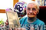Mary Frances Corcoran, Woodfield, Park Road, Killarney, who celebrate her 100th birthday in Ashbourough Lodge, Milltown on Monday.