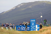 Ricardo Gouveia (POR) on the 2nd tee during Round 1 of the Dubai Duty Free Irish Open at Ballyliffin Golf Club, Donegal on Thursday 5th July 2018.<br /> Picture:  Thos Caffrey / Golffile
