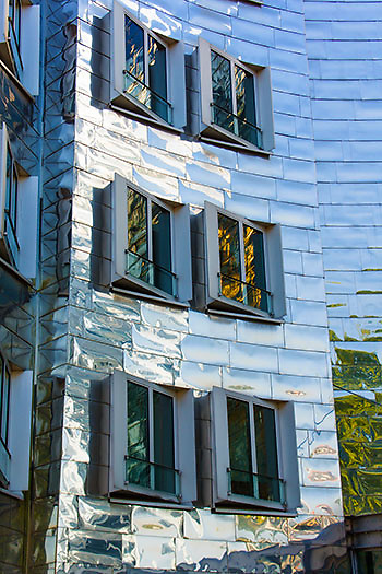 Frank Gehry building in Dusseldorf, Germany.