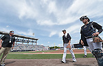 (L-R) Masahiro Tanaka, John Ryan Murphy (Yankees),<br /> MARCH 25, 2015 - MLB :<br /> Pitcher Masahiro Tanaka and catcher J. R. Murphy of the New York Yankees walk to the dugout before a spring training baseball game against the New York Mets at George M. Steinbrenner Field in Tampa, Florida, United States. (Photo by AFLO)