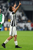 Calcio, Serie A: Juventus vs Milan. Torino, Juventus Stadium, 10 marzo 2017.<br /> Juventus&rsquo; Paulo Dybala celebrates after scoring on a penalty kick the winning goal during the Italian Serie A football match between Juventus and AC Milan at Turin's Juventus Stadium, 10 March 2017. Juventus won 2-1.<br /> UPDATE IMAGES PRESS/Manuela Viganti