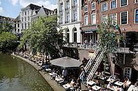 Terrassen bij de Oude Gracht in Utrecht