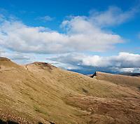 Corn Du, Pen Y Fan and Cribyn, Brecon Beacons national park, Powys, Wales