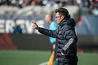 FOXBOROUGH, MA - MARCH 7: Chicago Fire coach Raphael Wicky during a game between Chicago Fire and New England Revolution at Gillette Stadium on March 7, 2020 in Foxborough, Massachusetts.