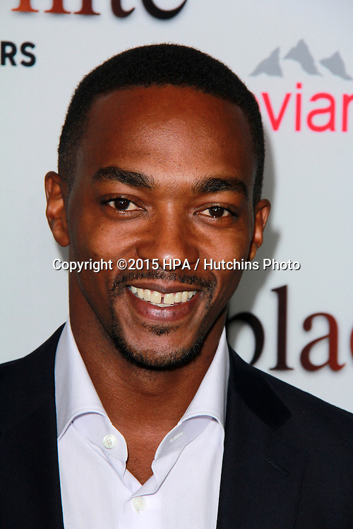 "LOS ANGELES - JAN 20:  Anthony Mackie at the ""Black Or White"" Los Angeles Premiere at a Regal Cinemas on January 20, 2015 in Los Angeles, CA"