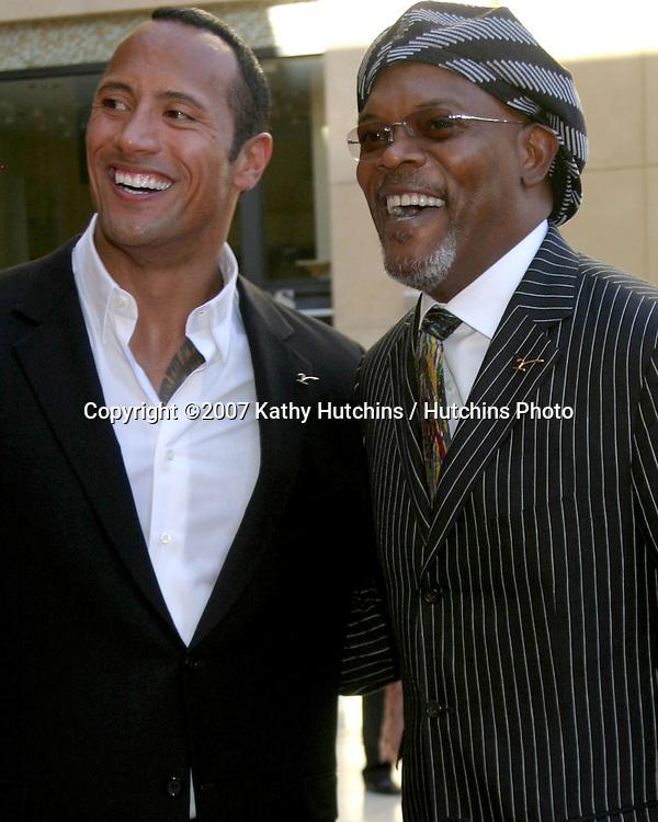 "Dwayne ""The Rock"" Johnson & Samuel L. Jackson.ESPY Awards 2007.Kodak Theater.Los Angeles, CA.July 11, 2007.©2007 Kathy Hutchins / Hutchins Photo...."