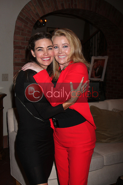 Amelia Heinle, Melody Thomas Scott<br /> at the Young and Restless 41st Anniversary Cake, CBS Television City, Los Angeles, CA 03-25-14<br /> David Edwards/DailyCeleb.com 818-249-4998