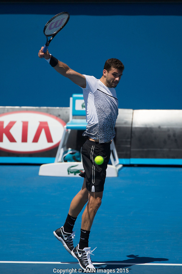 Grigor Dimitrov (BUL)<br /> <br /> Tennis - Australian Open 2015 - Grand Slam -  Melbourne Park - Melbourne - Victoria - Australia  - 23 January 2015. <br /> &copy; AMN IMAGES