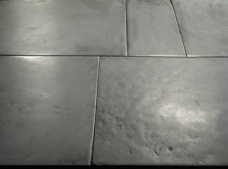 Solid Natural Limestone Tiles of a very consistent composition, with straight cut, slightly pillowed edge, naturally undulated, high honed surface. Shown in Gray. <br /> *Special order material. Not kept in stock.  Please allow 16 weeks for delivery