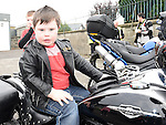 Andrew Gall from St Ita's school pictured at The Run Of The Country charity motorcycle run. Photo:Colin Bell/pressphotos.ie