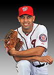 25 February 2011: Washington Nationals' infielder Alex Cora poses for his Photo Day portrait at Space Coast Stadium in Viera, Florida. Mandatory Credit: Ed Wolfstein Photo