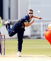 Joe Denly bowls for Kent during the T20 friendly between Kent and the Netherlands at the St Lawrence Ground, Canterbury, on July 3, 2018