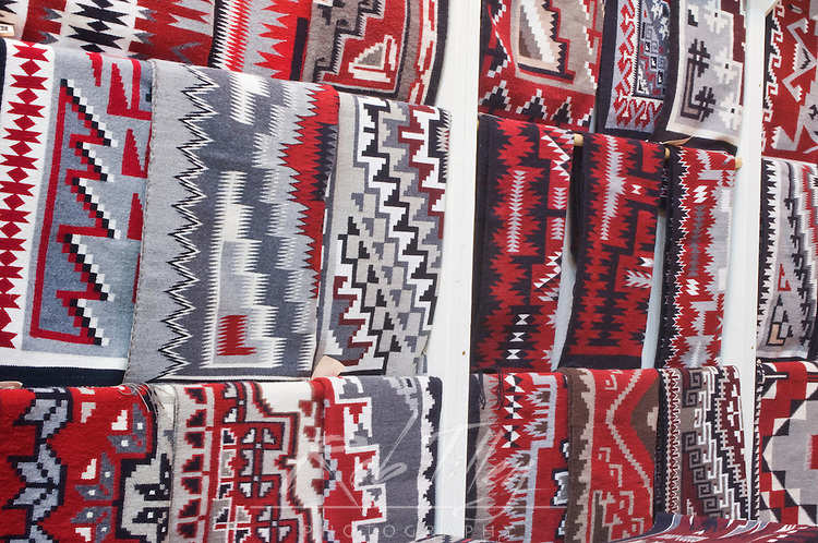 USA, NM, Gallup, Handmade Navajo Rugs for Sale